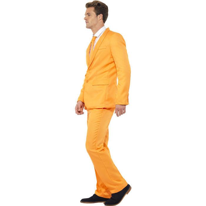 Anzug Orange mit mit mit Schlips, Hose und Sakko, ideal für Karneval und Partys   Deutschland München  eb2a93