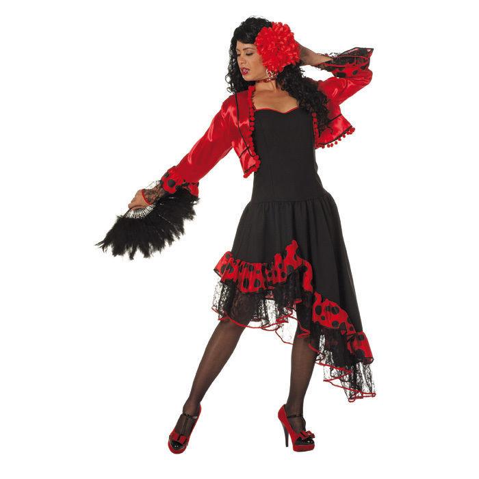 Spanisches Carmen Spanierin Flamencotänzerin Kostüm Damen N0Ov8nmw