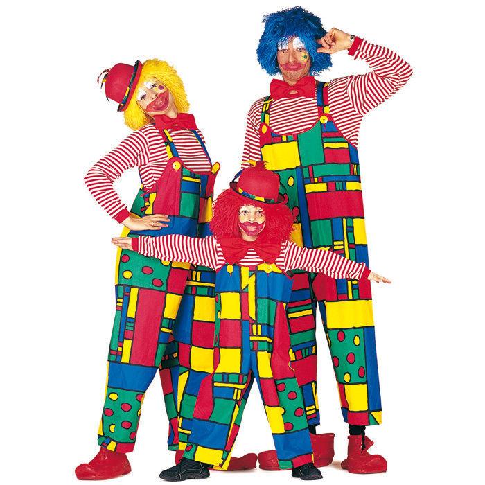 Herren kost m clown latzhose clownshose clownhose clownkost m ebay - Clown schminken bilder ...