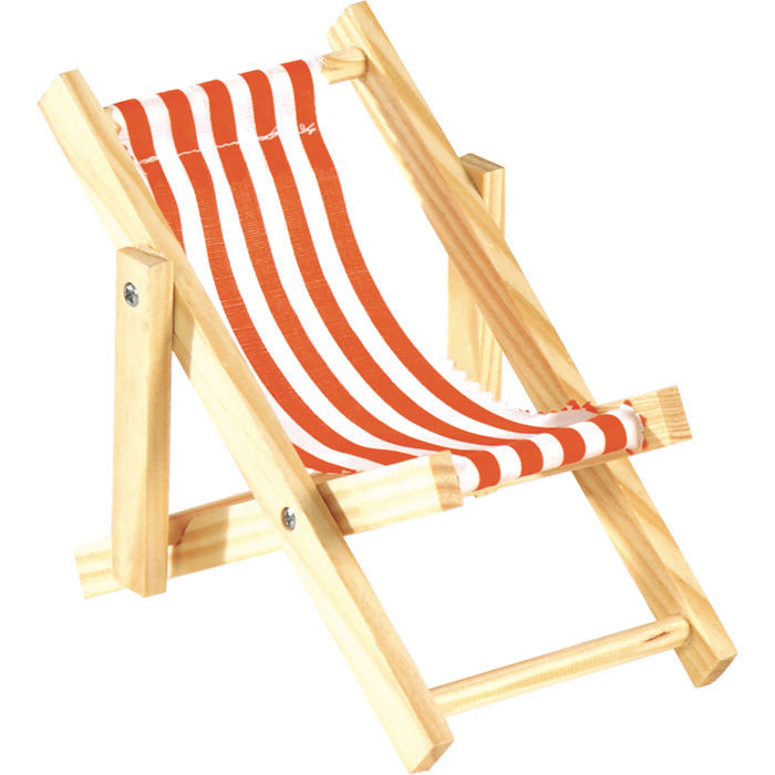 mini liegestuhl gestreift weiss rot 20 cm sonnenstuhl sonnenliege deko ebay. Black Bedroom Furniture Sets. Home Design Ideas